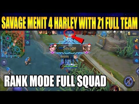 GG SAVAGE HARLEY DI MENIT AWAL Z1 FULL TEAM - Mobile Legend Bang Banmg
