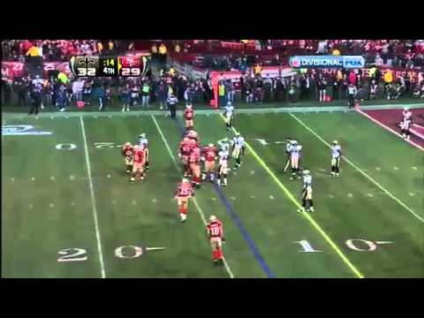 Never forget the epic 2012 Divisional playoff game between the 49ers and Saints. Alex Smith wins the game with a TD to Vernon Davis.