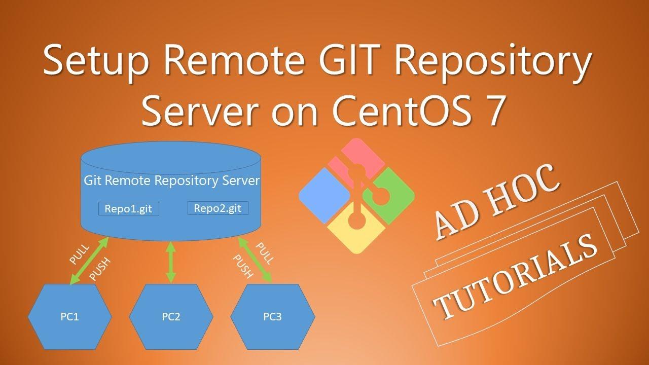 Setup Remote GIT Repository Server on CentOS 7 - Ad Hoc