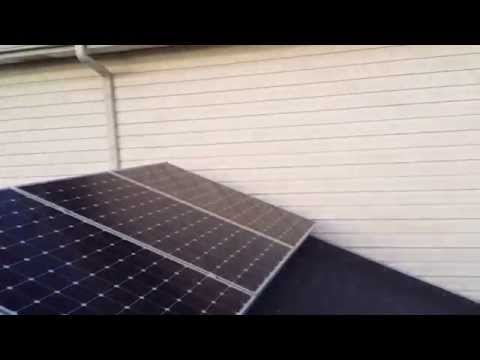 SunPower Solar SP-327 panels DIY Grid tied Solar installation