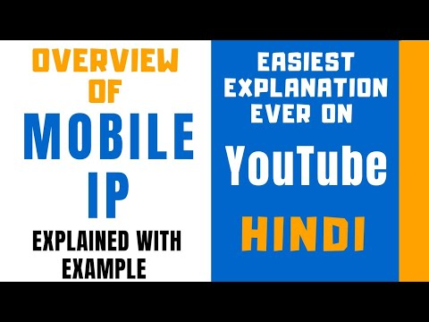 Overview Of Mobile IP Ll Need Of Mobile IP Explained With Example In Hindi