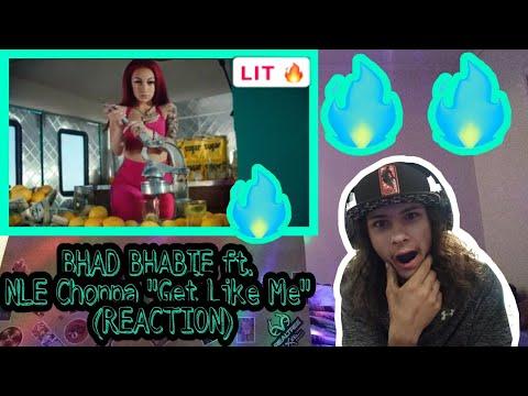 "BHAD BHABIE ""Get Like Me"" ft. NLE Choppa (Reaction)"