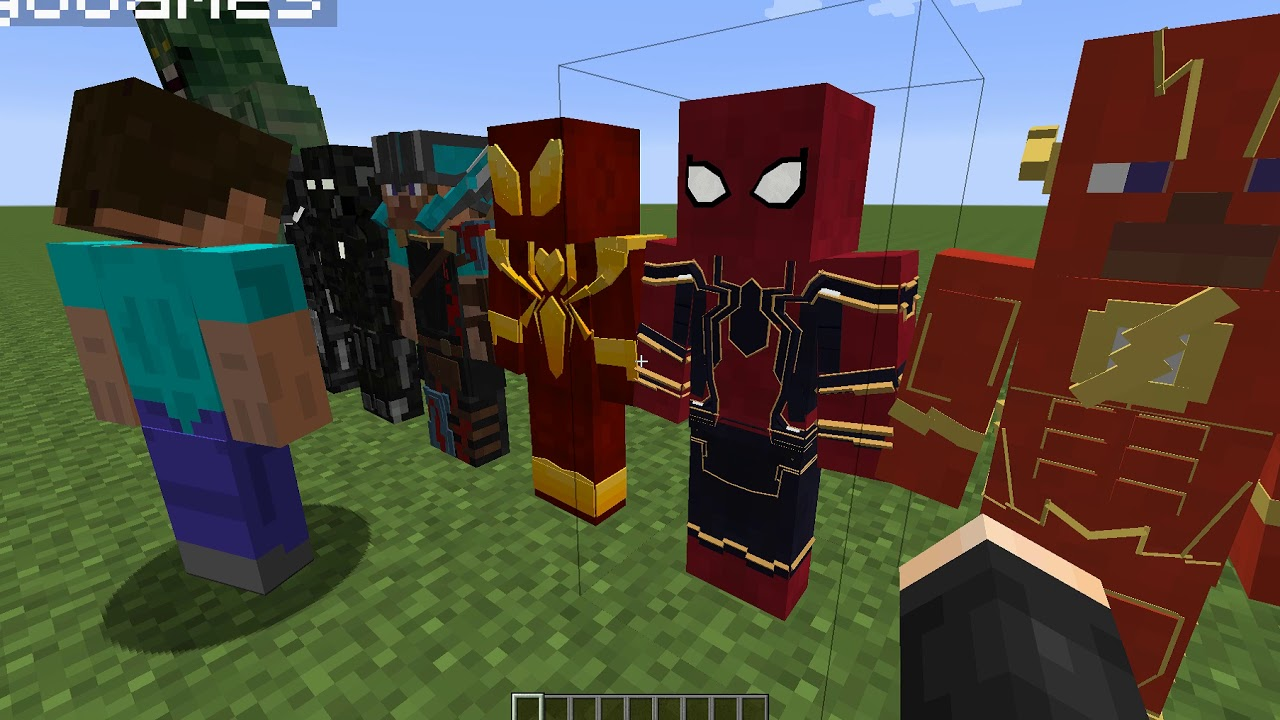 мод на майнкрафт костюмы супергероев самая новая версия