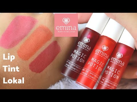 COBA PRODUK TERBARU EMINA - LIP TINT LOKAL MAGIC POTION (REVIEW + SWATCHES ALL SHADE)