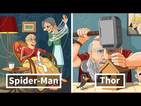 Süper Kahramanlar Yaşlansa Nasıl Görünürlerdi?