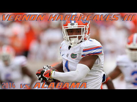 Vernon Hargreaves III (Florida CB) vs Alabama