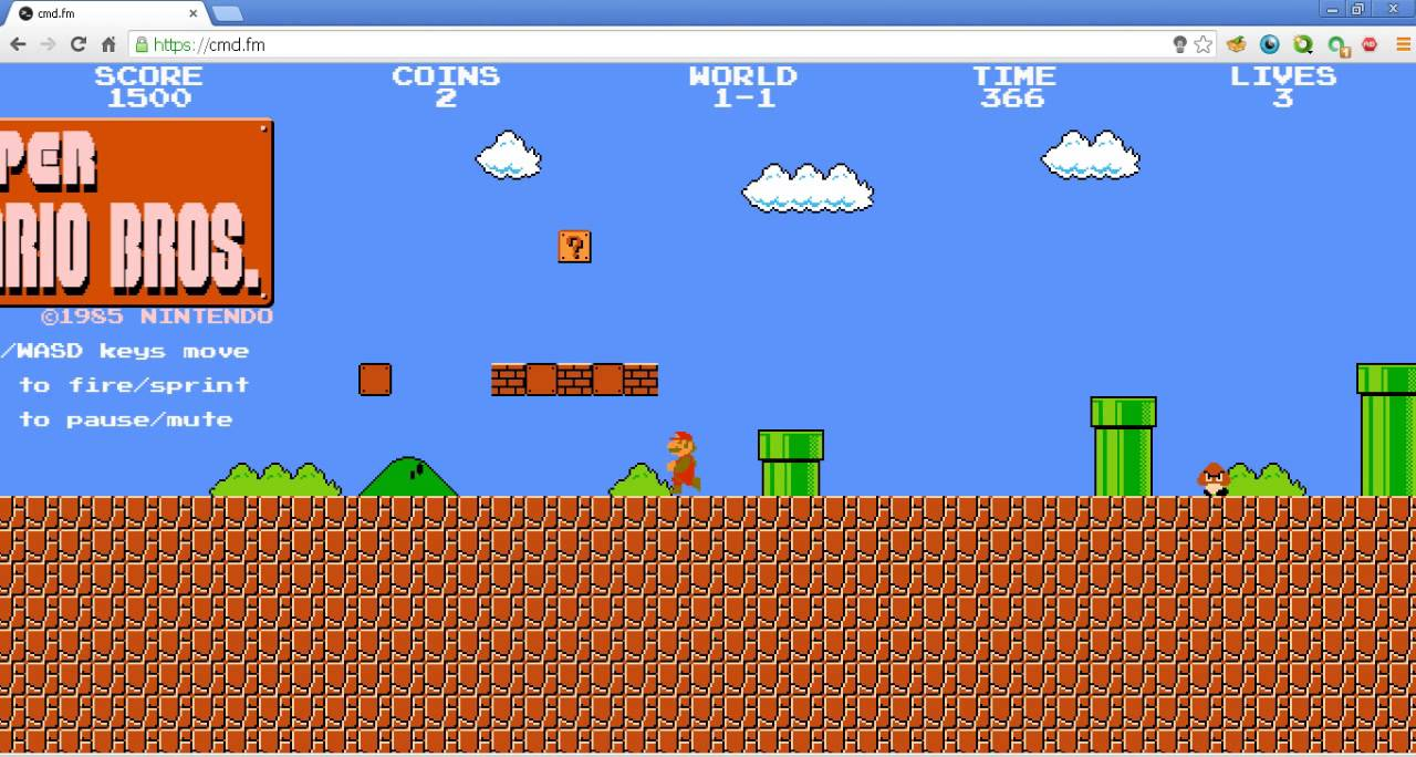 How to play super mario bros for free on pc?