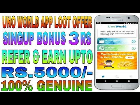 Uno World App Ll 10 Level Earning Ll Refer & Earn Unlimited Paytm Cash