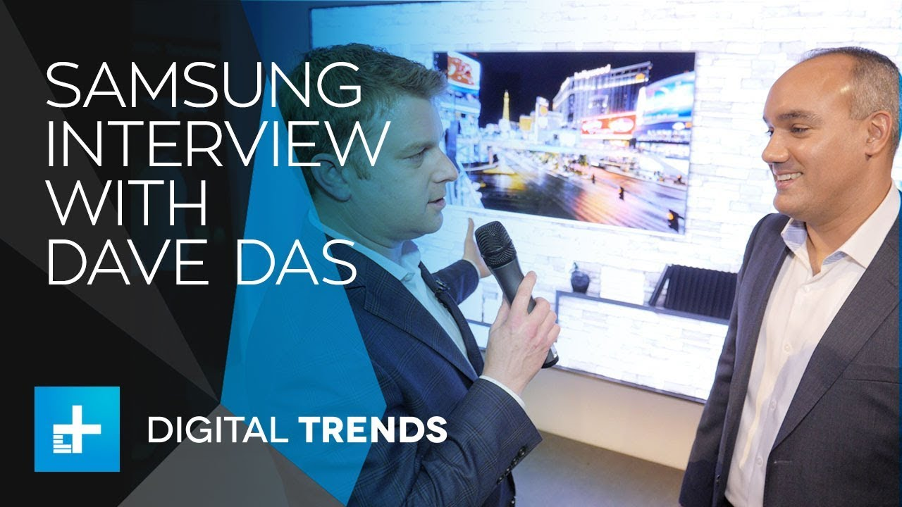 Samsung Home Entertainment – Interview with Dave Das at CES 2018