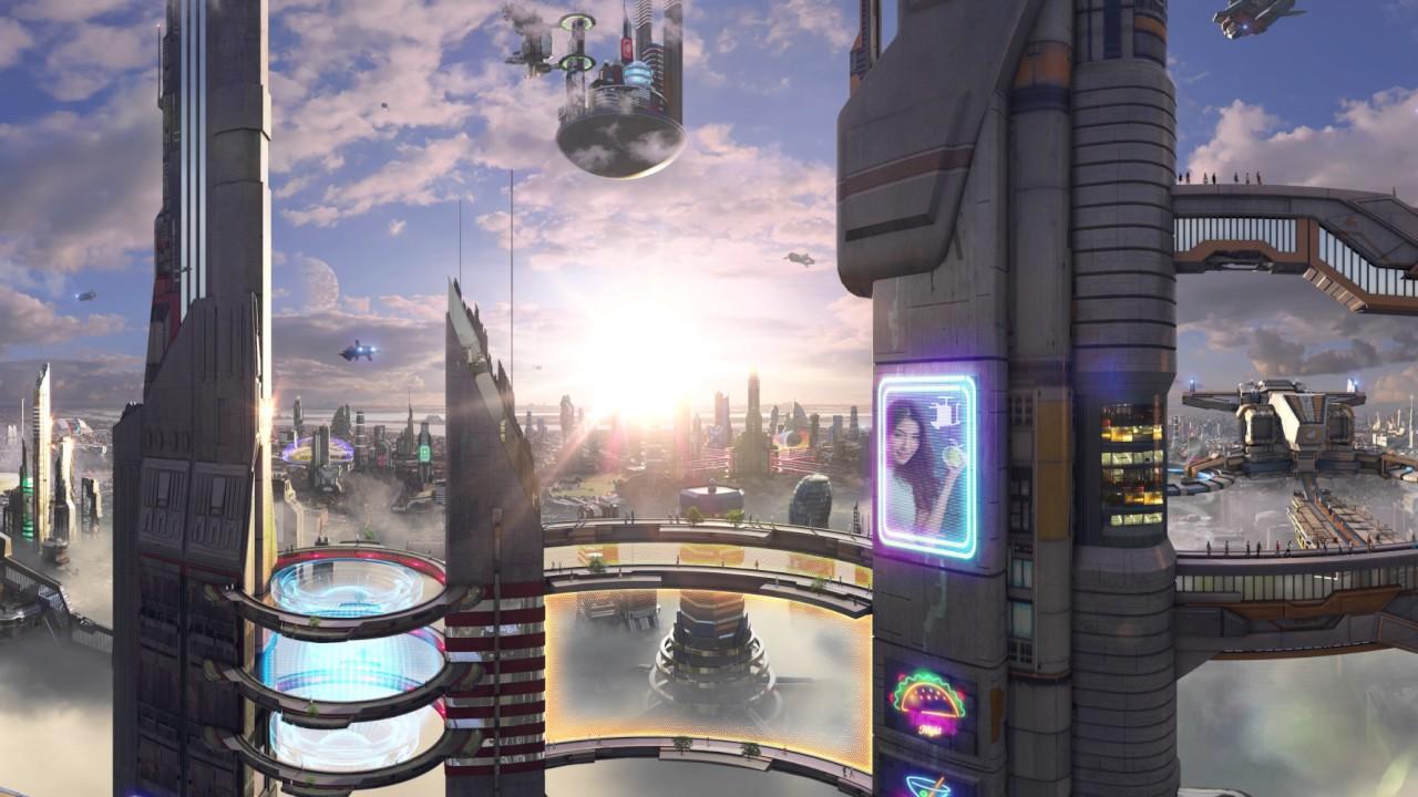 360 Concept Art Sci Fi City 4k Youtube