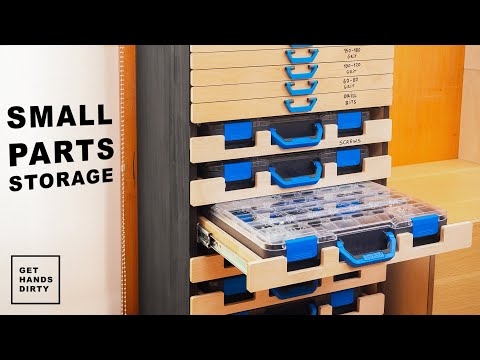 Making a Small Parts Storage Rack