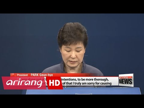 ARIRANG NEWS BREAK 20:00 President Park apologizes for sharing documents with aide