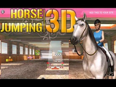 Скачки на Лошади. Игра 3D мультик. Horse jumping. Детское тв. Kids games.