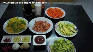 Sweet n Sour Vegetables Recipe - Veggy Vegan Chinese