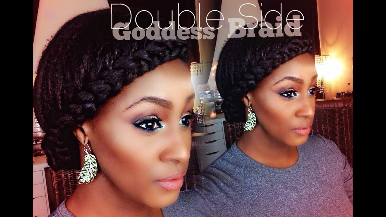 Double Sided Goddess Braids On Short Medium Length Hair With Clip Ins Youtube