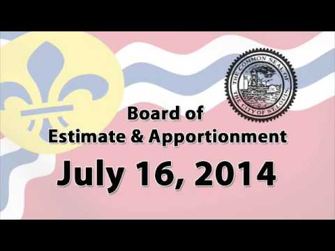 Board of Estimate and Apportionment   July 16 2014