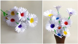 Beautiful Flowers Making With Paper | DIY | Paper Flowers Making | Home Decor | Paper Craft