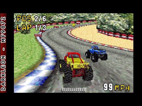 Game Boy Advance - Monster Truck Madness © 2003 THQ - Gameplay |