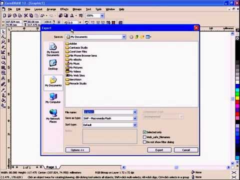 CorelDRAW Tutorial - Change or Export CDR File to SWF and Html