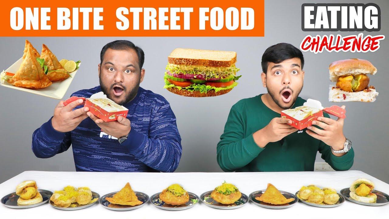 One Bite Street Food Eating Challenge Eating Challenge Food Eating Competition Food Challenge