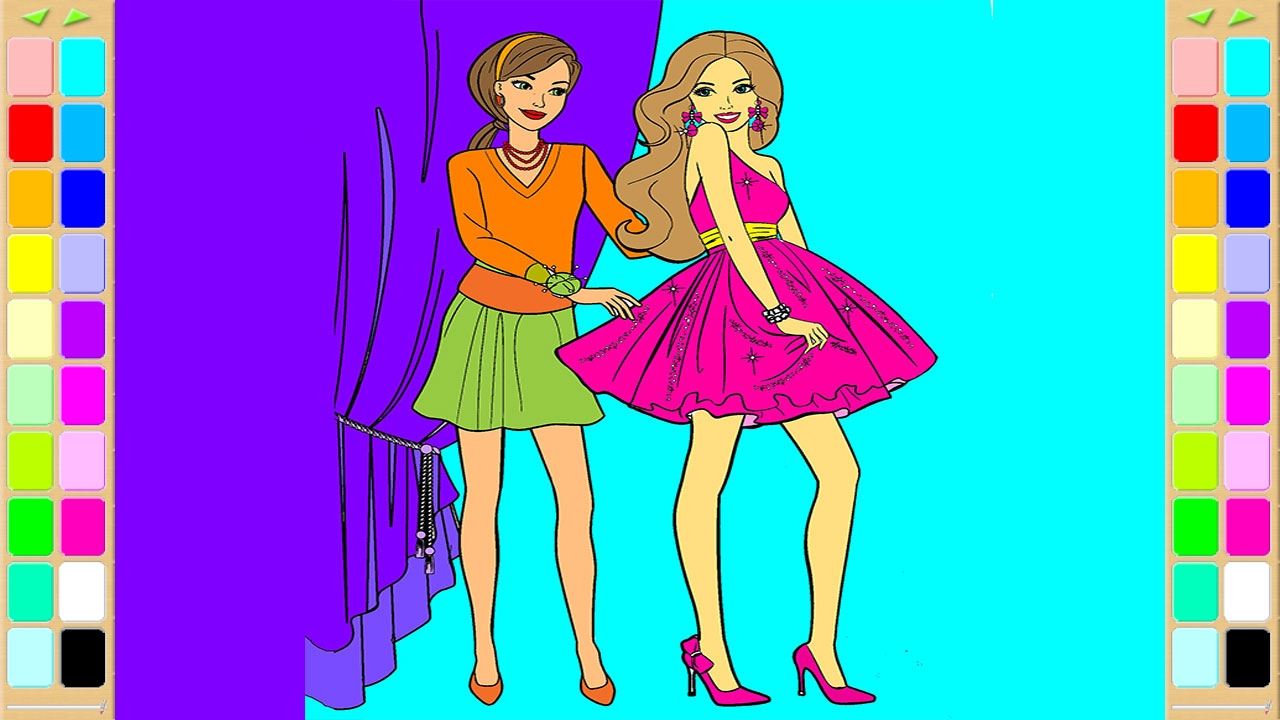 barbie coloring book dress up coloring pages kids fun art