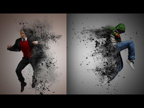 DISINTEGRATION effect Photoshop tutorial. Marvel Avengers Infinity Wars effect