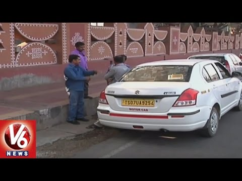 Cab Culture Raising In Hyderabad City | OLA And Uber Services | V6 News