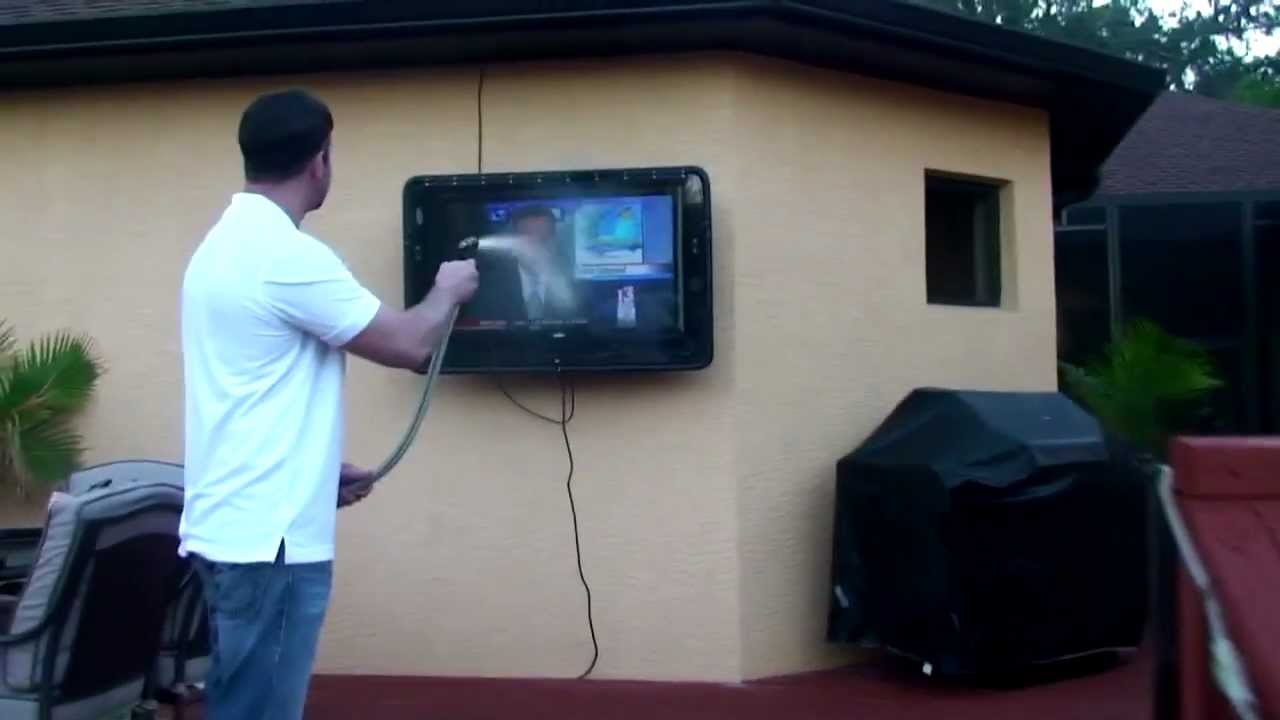 the tv shield outdoor tv cabinet enclosure case durability test
