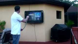 The Tv Shield - Outdoor Tv Cabinet Enclosure Case Durability Test