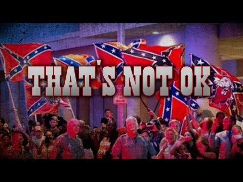 Obama Greeted By Confederate Flags In Oklahoma