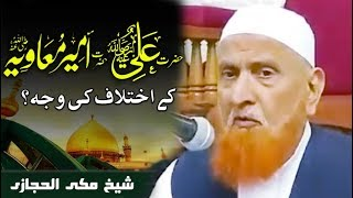 Hazrat Ali aur Hazrat Muawiya ?  Sheikh Makki Al Hijazi حضرت علی اور  حضرت معاویہ کا اختلاف؟