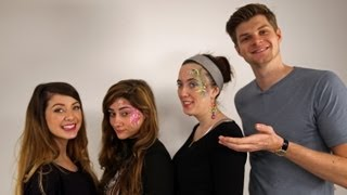 FACE PAINTING: CHALLENGE JIM & ZOELLA
