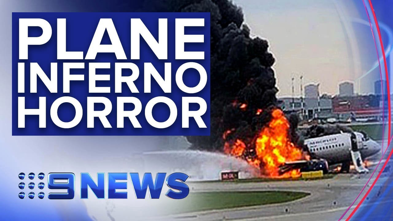 Claims evacuation delayed by passengers getting luggage | Nine News  Australia