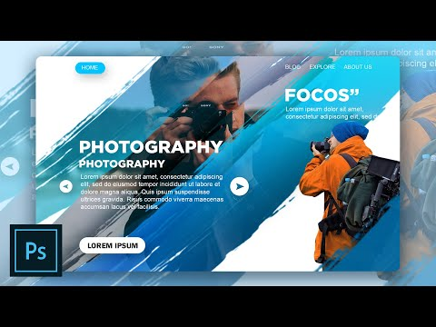 Landing Page | Web Design | Photoshop Tutorial  | Speed Art