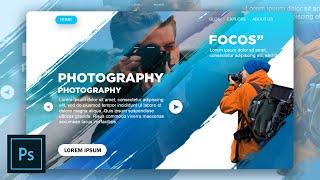 Landing page | Web design | Photoshop Tutorial  | Speed Art