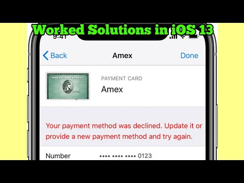 Fix - Apple IPhone Says Your Payment Method Was Declined Please Enter Valid Payment Method In IOS 13