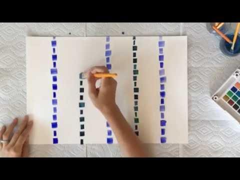 DIY Cobalt and Indigo Watercolor Placemats