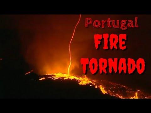 Fire tornado in Portugal, October 8 2017, Fire devil