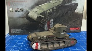 Building the Meng 1/35 Whippet  WWI tank