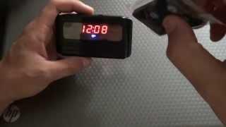 обзор настольных часов с скрытой камерой 720р(видеообзор настольных часов с скрытой камерой записывающих видео в качестве HD 720р (1280 на 720 точек) http://www.spymark..., 2013-07-25T16:10:48.000Z)