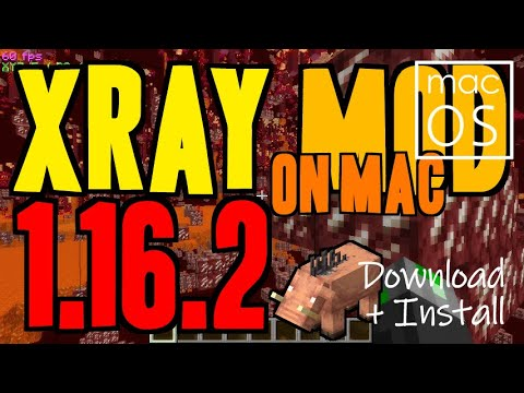 XRAY MOD 1.16.2 Minecraft - How To Download & Install X Ray 1.16.2 (no Forge On Mac)