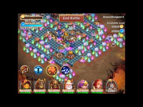 Castle Clash Insane Dungeon 6-3 With F2p Heroes