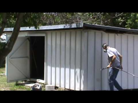 Painting An Aluminum Shed Youtube