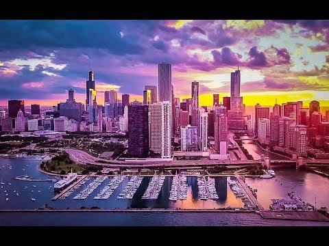Chicago Drone Cinematic Sunset | Navy Pier | DJI Mavic PRO | 4K