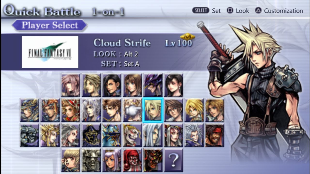 Final Fantasy Dissidia 012 - All Character | Ppsspp Android