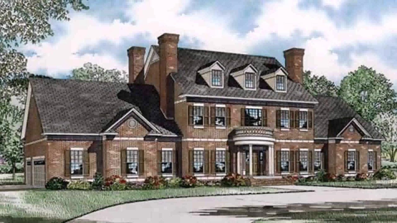 Traditional georgian style house plans youtube for Garden design georgian house