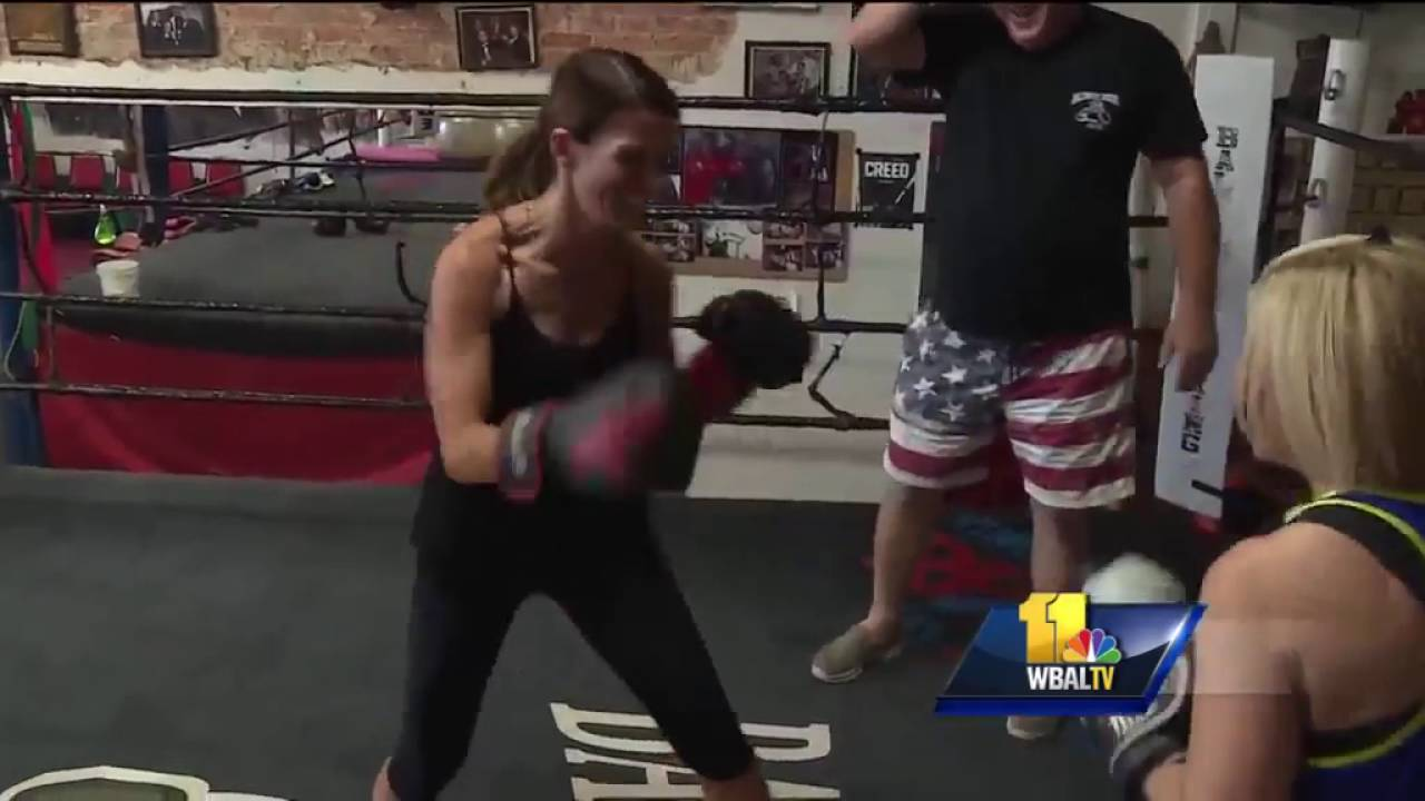 Mindy, Megan duke it out at Baltimore Boxing Club