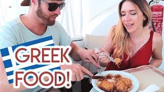 Trying GREEK FOOD in SANTORINI - Greece 2018
