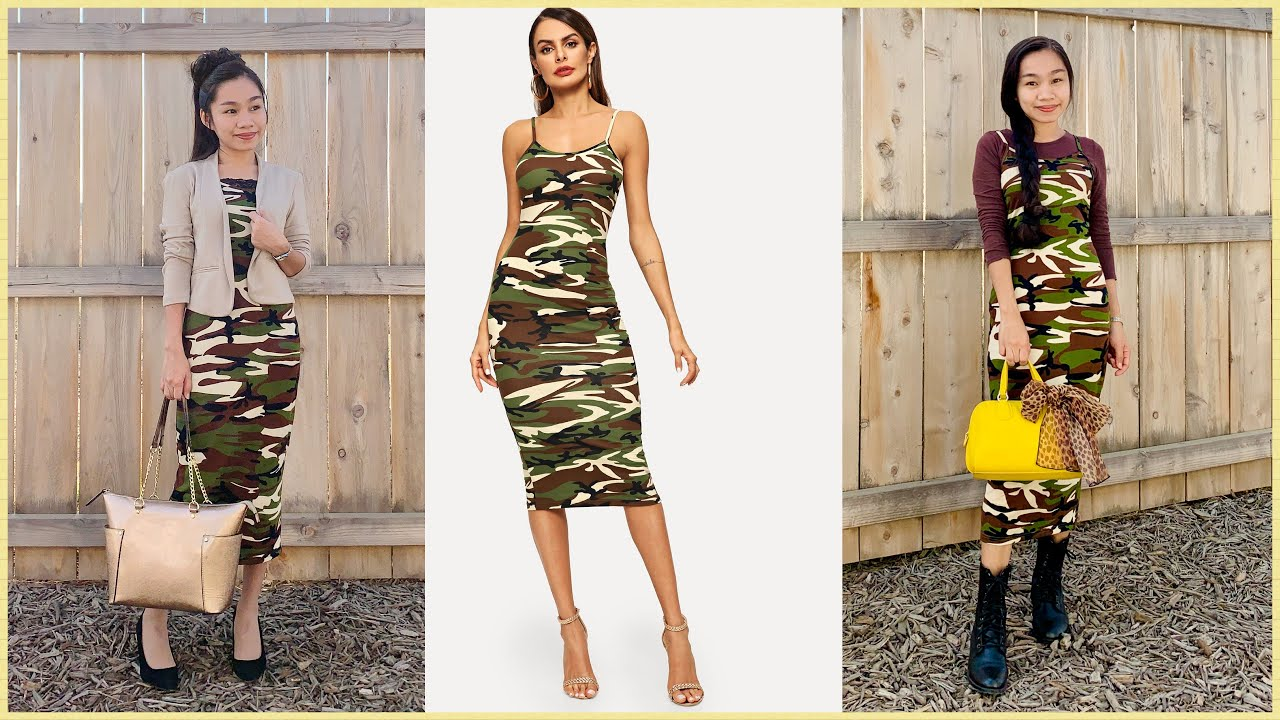 [VIDEO] - SKIRTS & DRESSES | Camouflage | Shein Finds | MODEST OUTFIT IDEAS | Shein Haul | MODEST FASHION 2