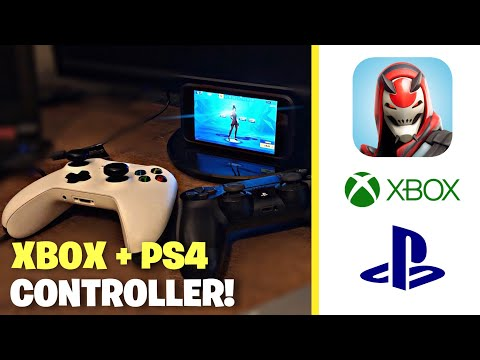 How To Play Fortnite Mobile W/ Xbox Or PS4 Controller *IPhone* (2019)